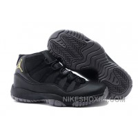 Charcoal Black And Gold Jordan 11 Men Basketball Shoes Free Shipping For Sale TneMEyA