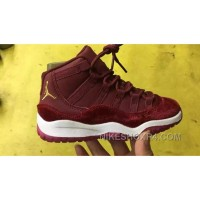 Air Jordan 11 Kids Red Velvet Discount ZdcTiw