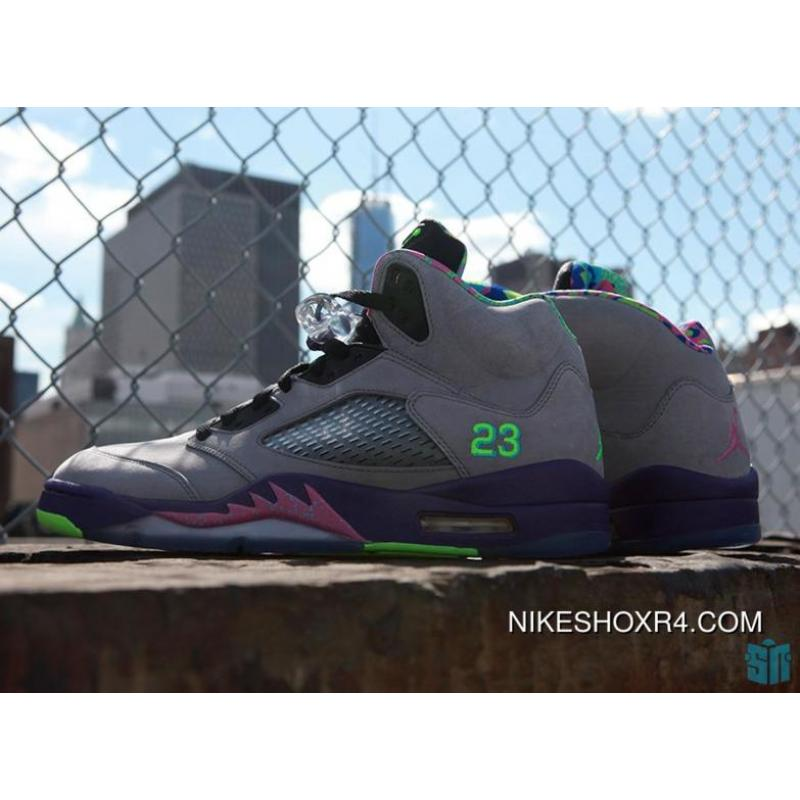 buy online ee464 e2af4 ... Air Jordan V Retro Bel-Air 621958-090 Grey Purple Mens-Womens ...