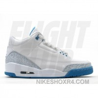 WS Air Jordan Retro 3 White Harbor Blue Boarder Blue 315296-142 Lastest 3SfhD