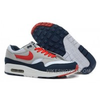 Discount Purchase 2014 New Nike Air Max 1 87 Mens Shoes 2014 New Grey Blue Orange 6hCZW