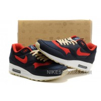 Discount Where To Buy 2014 New Wholesale Air Max 87 Mens Shoes Dark Blue Red HxZ5y