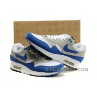 Discount Where Can I Buy 2014 New Wholesale Air Max 87 Mens Shoes Discount White Gray Blue Ns6Fe