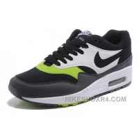 Authentic Hot 2014 New Nike Air Max 1 87 Mens Shoes 2014 New Black Green Zr3dk