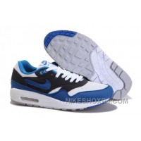 Free Shipping Sale 2014 New Nike Air Max 87 Men Shoes Hot Sale Black Blue White ZKECW