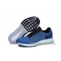 Men NK Air Zoom Pegasus 32 Shoes Blue Black Free Shipping