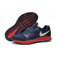 Coupon Code For Nike Air Zoom Pegasus Mens Running Shoes Blue And Red For Sale