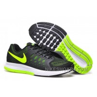 Cheap Nike Air Zoom Pegasus Mens Running Shoes Black And Green Top