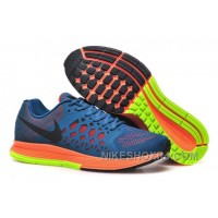 Discount Nike Air Zoom Pegasus Mens Running Shoes Blue And Orange Free Shipping