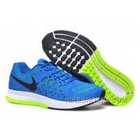 Inexpensive Nike Air Zoom Pegasus Mens Running Shoes Sapphire Blue And Green Top