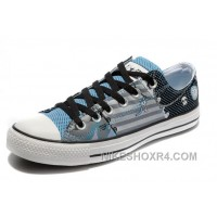 Blue CONVERSE Punk Collection Pirate Pattern Tops Canvas Shoes Christmas Deals BxMcX