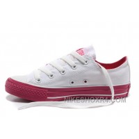 Dazzle Colour CONVERSE All Star Light White Red Tops Casual Canvas Sneakers Lastest BaTa5