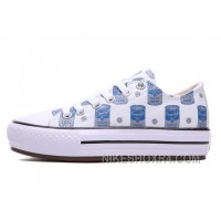 Blue CONVERSE Women Platform Andy Warhol Tomato Soup Print CT All Shoes Christmas Deals Z3GHH