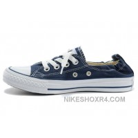 Classic Blue CONVERSE Slip On Styling Chuck Taylor Shoreline All Star Tops Canvas Shoes Authentic JZKBw