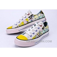 CONVERSE Comics Pattern Printed Multi Colored Silk Road Tops Chuck Taylor All Star Canvas Shoes For Sale 3nper