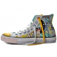 CONVERSE Silk Road Comics Pattern Printed Multi Colored High Tops Chuck Taylor All Star Canvas Shoes Online ARfyF