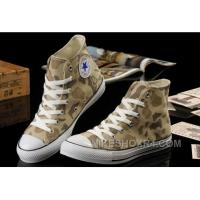 CONVERSE Summer Collection Nicolas Cage Soul Camouflage Yellow Ochre All Star Chucks High Tops Canvas Sneakers Free Shipping FedF5