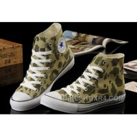 CONVERSE Summer Nicolas Cage Soul Camouflage Army Olive Green All Star Chucks High Tops Canvas Sneakers Christmas Deals ZSaa6