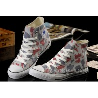 Summer CONVERSE Camouflage High Tops Nicolas Cage Soul Grey Red All Star Chucks Canvas Sneakers Online Ef5r4