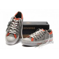 Grey Orange CONVERSE Double Upper Tongue All Star Chuck Taylor Tops Canvas Casual Shoes Online FWmjf
