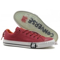 Undefeated CONVERSE All Star Tops Wine Red Canvas Clear Rubber Soles Lastest He7Fd