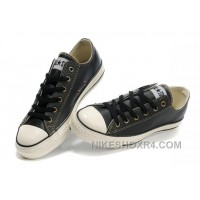 Black Leather CONVERSE All Star Overseas Edition Tops Trainer Christmas Deals Ysp4F
