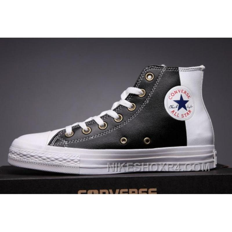 749a7940f1 USD  59.00  171.10. CONVERSE Black Leather Two Panels Chuck Taylor All Star High  Tops For Sale ...