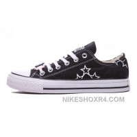Black CONVERSE Star Embroidery Chuck Taylor All Star Canvas Shoes Christmas Deals ZD4ns