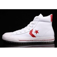 White Leather CONVERSE Padded Collar Korea CT All Star High Tops Shoes Hot Now TmfA7