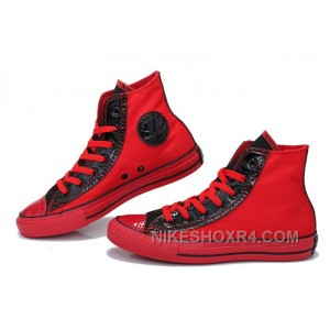 Red Black High Tops CONVERSE Heritor Chuck Taylor All Star Canvas Sneakers Lastest WX6dF