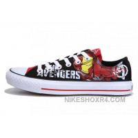 Iron Man CONVERSE Printed The Avengers Comics Black Red Shoes 2017 New