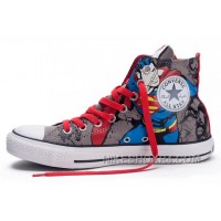 CONVERSE Chuck Taylor DC Comics Superman Grey Red Print All Star Canvas Shoes 2017 New