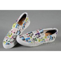 All Star Slip On CONVERSE White Batman Joker Comics Print Canvas Trainers 2017 New