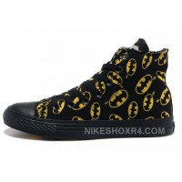 CONVERSE Batman Black And Yellow Symbol Printed Canvas 2017 New 238132
