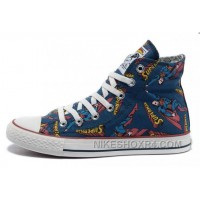 CONVERSE Superman Comics Heros Printed Blue Canvas Sneakers 2017 New 238144