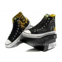 Chuck Taylor DC Comics CONVERSE Batman Graffiti Print Black Yellow Canvas Shoes 2017 New