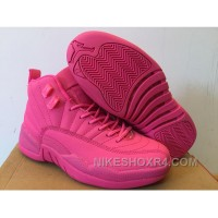 Girls Air Jordan 12 GS All Pink 2016 For Sale KfAkS