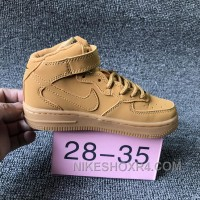NIKE AIR FORCE 715889-200 Kids Preschool AF1 Wheat Children New Style FC38HX