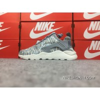 Nike Huarache 3 Air Run Ultra Silver Grey Embroidery 859511-003 Best