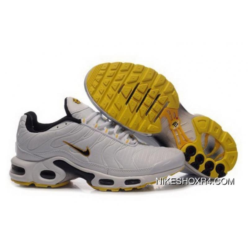new arrival f5d47 74ef1 2016 Nike Air Max Tn Mens Shoes White Black Yellow Latest, Price ...
