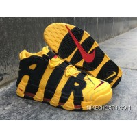 Nike Air More Uptempo Custom Bruce Lee Black/Yellow Free Shipping