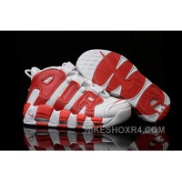 Womens Nike Air More Uptempo White Gym Red Authentic Xiitb