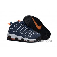 Nike Air More Uptempo GS 2015 Dark Obsidian Orange White For Sale Discount 3iPG8
