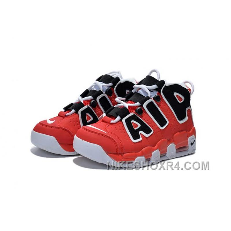 huge discount 35659 f66ff ... Discount Girls Nike Air More Uptempo Asia Edition Hoop Pack Red Black  Lastest A3f75 ...