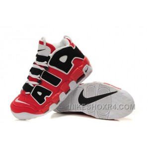 Mens Basketball Shoes Nike Air More Uptempo Black Varsity Red White For Sale Twymb