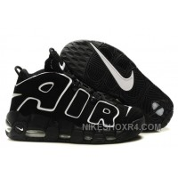 Nike Air More Uptempo Large AIR White Black Discount McnAm