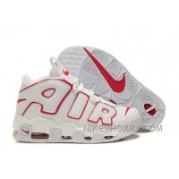 Cheap Nike Air More Uptempo White University Red For Sale Top YBiTS