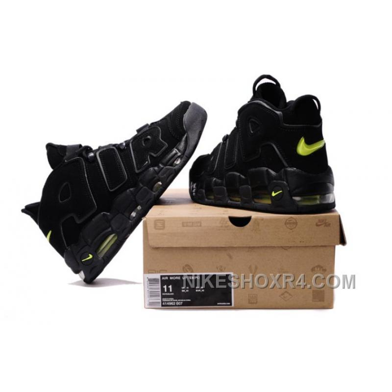 ... Cheap Nike Air More Uptempo Black/Black-Volt For Sale Discount HiCDs ...