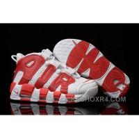 Nike Air More Uptempo White Red Mens And Girls For Sale Discount TzJhp