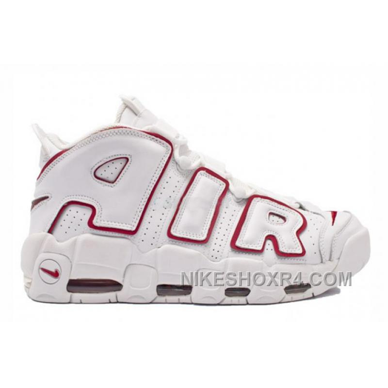 ... cheap nike air more uptempo white varsity red hot meths